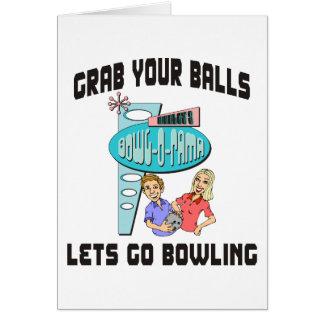 あなたの球をボーリングをすることを行くために割り当てますつかんで下さい カード