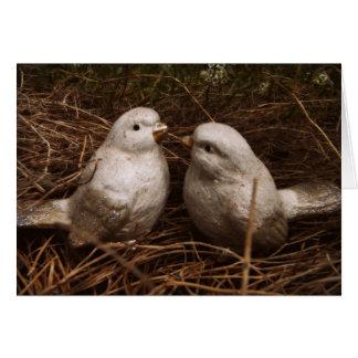 あなたの甘い思考、巣、愛の2羽の鳥 カード