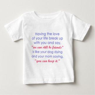あなたの生命の愛対。 あなたの犬死ぬ色 ベビーTシャツ