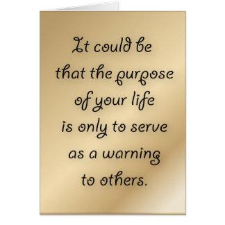 あなたの生命挨拶状の目的 カード