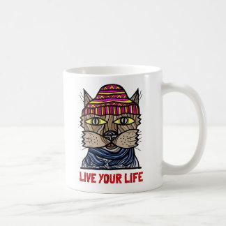"""""""あなたの生命""""は11のozのクラシックのマグ住んでいます コーヒーマグカップ"""