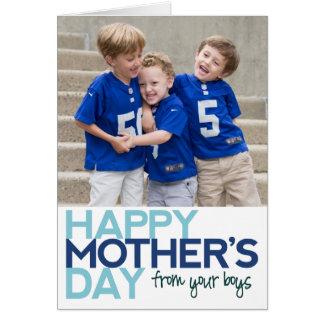 あなたの男の子からの幸せな母の日 グリーティングカード
