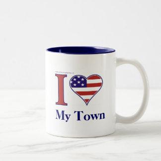 あなたの町の名前を挿入して下さい! ツートーンマグカップ