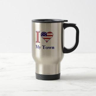 あなたの町の名前を挿入して下さい! トラベルマグ