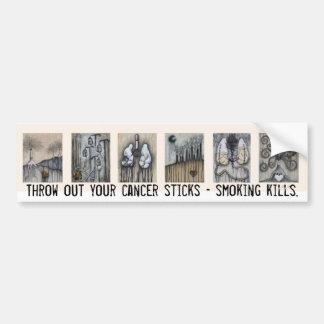 あなたの癌の棒-喫煙の殺害--を投げ出して下さい バンパーステッカー