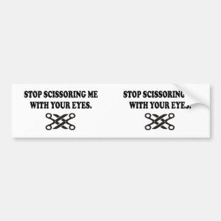 あなたの目との私を切ることを止めて下さい。 1の2つのステッカー バンパーステッカー