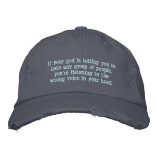 あなたの神が憎むように言えば…. 刺繍入りキャップ