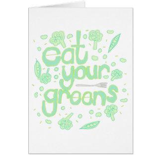 あなたの緑を食べて下さい グリーティングカード