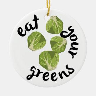 あなたの緑を食べて下さい セラミックオーナメント