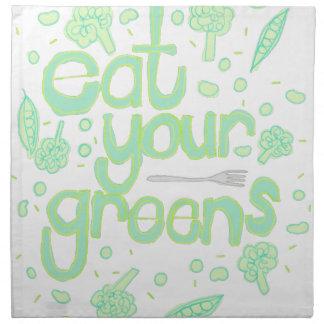 あなたの緑を食べて下さい ナプキンクロス