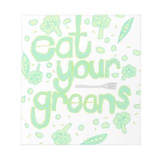 あなたの緑を食べて下さい ノートパッド