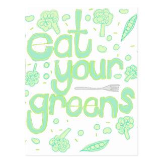 あなたの緑を食べて下さい ポストカード