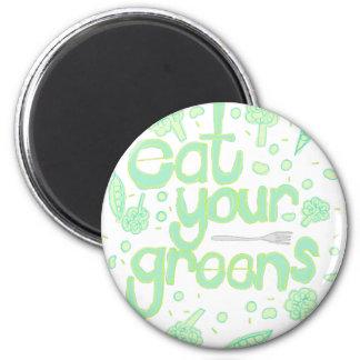 あなたの緑を食べて下さい マグネット