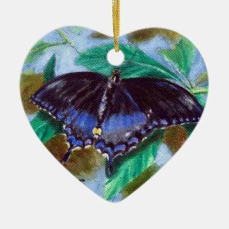 あなたの翼の蝶オーナメントを広げて下さい セラミックオーナメント