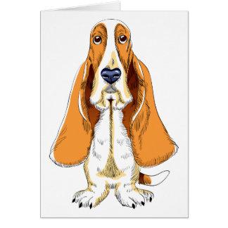 あなたの考えることバセットハウンドの小犬カード カード