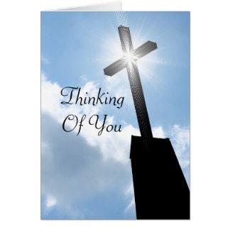 あなたの考えること宗教挨拶状 ノートカード