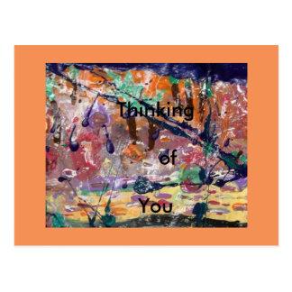 あなたの考えること挨拶状のギフトのインスピレーション ポストカード