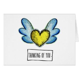 あなたの考えること挨拶状 グリーティングカード