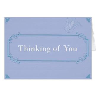 あなたの考えること-すずめ カード
