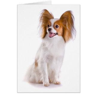 あなたの考えることPapillionの小犬カード カード