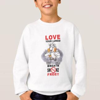 あなたの肺-停止喫煙--を愛して下さい スウェットシャツ