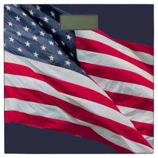あなたの背景色の米国の旗 体重計