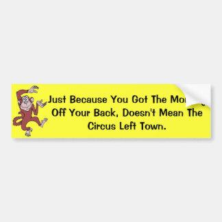あなたの背部の猿 バンパーステッカー