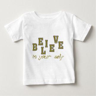 あなたの自己で信じて下さい ベビーTシャツ