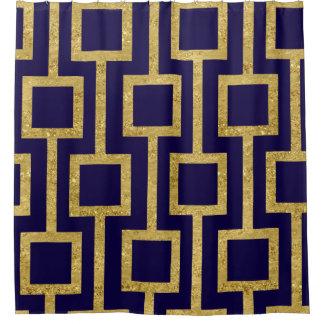 あなたの色のエレガントでコンテンポラリーな金ゴールドパターン シャワーカーテン