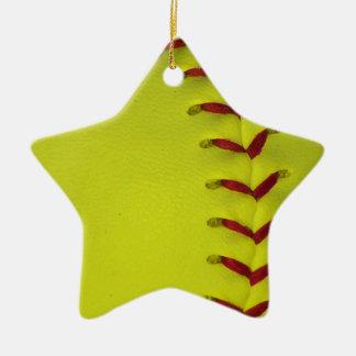 あなたの色の野球-ソフトボール--を選んで下さい 陶器製星型オーナメント