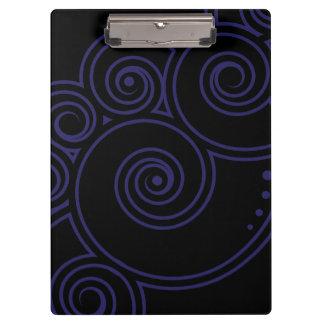 あなたの色の魅了の渦巻のクリップボードを選んで下さい クリップボード