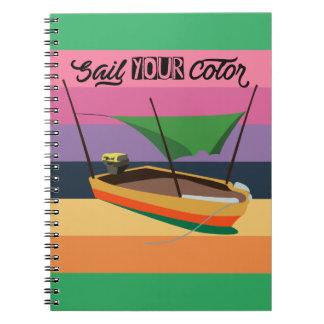 あなたの色を航海して下さい ノートブック