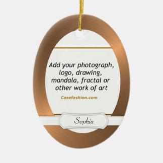 あなたの芸術の楕円形の陶磁器のオーナメントの銅のボーダー セラミックオーナメント