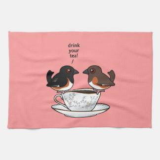 あなたの茶を飲んで下さい! キッチンタオル