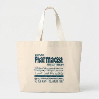 あなたの薬剤師は実際に考えるです ラージトートバッグ