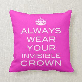 あなたの見えない王冠の枕をあらゆる色常に身に着けて下さい クッション