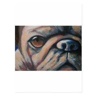 あなたの親友のパグの愛犬家のおもしろいの絵を描くこと ポストカード