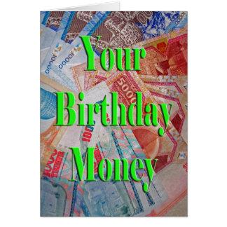 あなたの誕生日のお金 カード