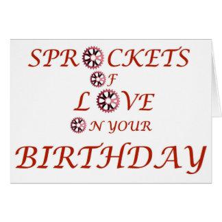 あなたの誕生日の愛のスプロケット カード
