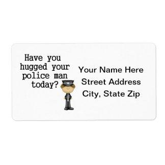あなたの警察の人抱き締められるあります ラベル