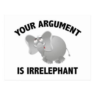 あなたの議論はIrrelephantです ポストカード