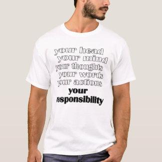 あなたの責任 Tシャツ