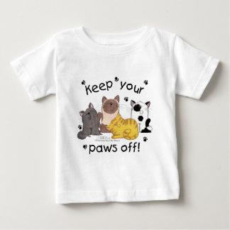 あなたの足をを離れて保って下さい(猫) ベビーTシャツ