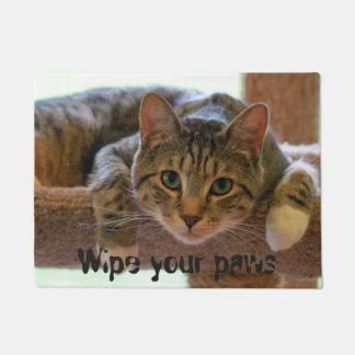 あなたの足猫の顔を拭いて下さい ドアマット