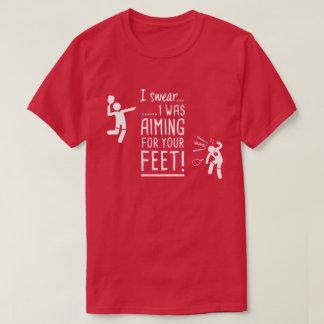 """""""あなたの足""""ののために向けますおもしろいなPickleballのワイシャツ Tシャツ"""