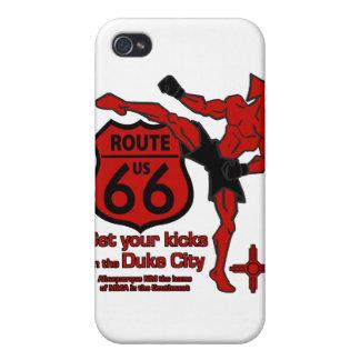 あなたの蹴りにCity公爵赤を得て下さい iPhone 4 ケース