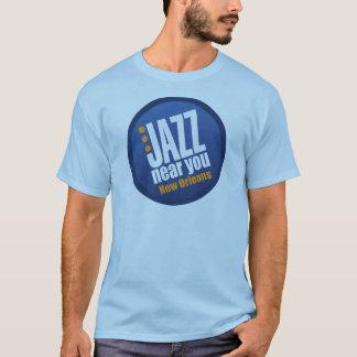 あなたの近くのジャズはニュー・オーリンズの男性基本袖をショートさせます Tシャツ