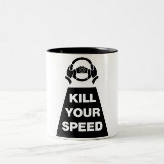 あなたの速度を殺して下さい ツートーンマグカップ