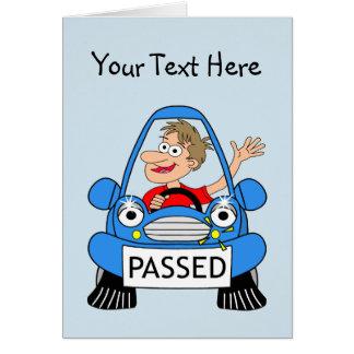 あなたの運転免許試験の合格のお祝い カード