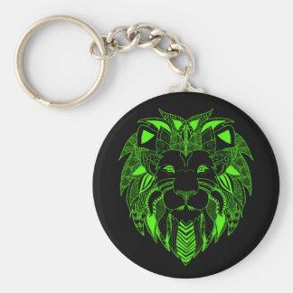 あなたの選択の背景色の緑のライオン キーホルダー